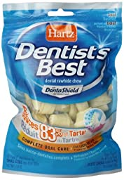 Hartz Dentist\'s Best 2-Inch Bone - 10-Pack