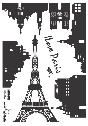 Easy Instant Decoration Wall Sticker Decal - Parisian Landscape