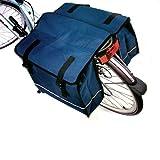 Blue Water Resistant Double Bicycle Pannier Bag