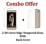 #10: M.G.R.J [ Coolpad Note 5 ] Transparent Back Cover + Ballistic Tempered Glass Screen Protector - Maximum Impact Protection - 99.9% Crystal Clear HD Glass - No Bubbles