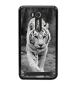 White Tiger 2D Hard Polycarbonate Designer Back Case Cover for Asus Zenfone 2 Laser ZE550KL (5.5 INCHES)