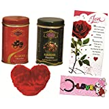 Skylofts 191gms Chocolate Coated Nuts Gift Pack With A Cute Heart, A Love Card & Love Key Ring