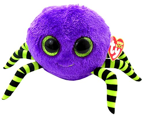 Ty Beanie Boos Crawly Purple And Green Spider front-1055269