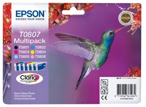 Epson T0807 Multipack (cyan, magenta, gelb, schwarz, light cyan, light magenta), 44,4 ml