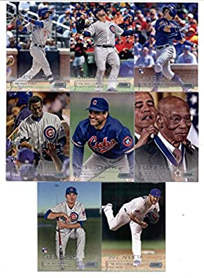 2015 Topps Stadium Club Baseball Cards Chicago Cubs Team Set (8 Cards) Including Kris Bryant, Arismendy Alcantara, Jorge Soler, Javier Baez