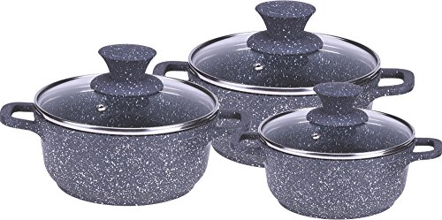 Wonderchef Die-Cast Aluminium Casserole Set, 6-Pieces, Grey
