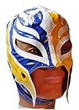 WWE REY MYSTERIO Kid Size Blue / Yellow Replica MASK