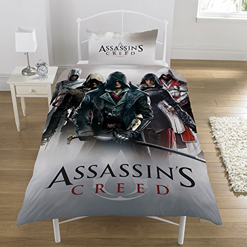 Assassins Creed 'Eroi Montage' Set copripiumino singolo, multicolore