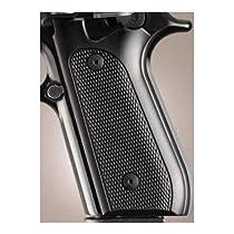 Hogue Taurus PT99+ Grips w/Decocker Checkered Aluminum Brushed Gloss Black