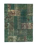 Eden Carpets Alfombra Pacthwork Verde 204 x 154 cm