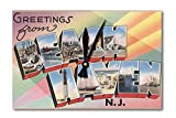Greetings from Beach Haven, New Jersey (Acrylic Wall Clock)