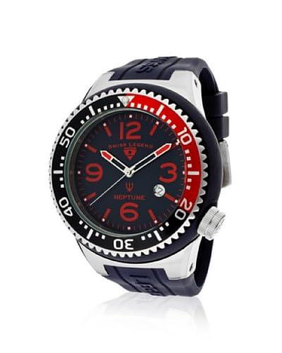 Swiss Legend Men's 21818S-B-AH Neptune Navy/Red Silicone Watch