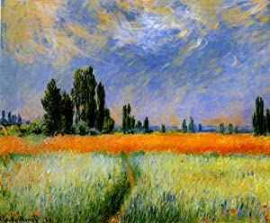 Amazon.com: THE WHEAT FIELD 1881 BEAUTIFUL DAY COUNTRYSIDE BLUE SKY BY