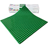 "The Brickmat 15"" X 15"" Silicone Green Baseplate - Only Compatible With Larger Duplo Blocks"