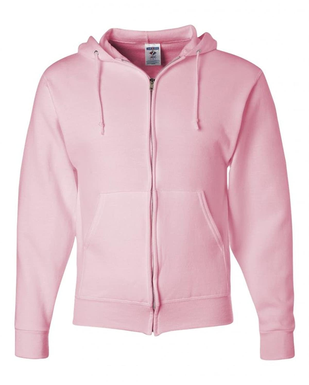 Jerzees Z NuBlend Full-Zip Hoody Hoodie Hooded Sweatshirt - Pink толстовки puma худи figc azzurri zip hoody