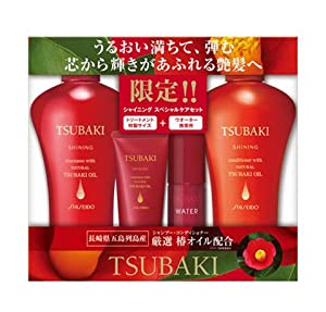 Shiseido Tsubaki Shining Shampoo and Conditioner Set 4pc