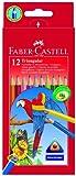 Faber Castell 116512 – Farbstift Dreikant 12er Kartonetui 12 verschiedene Farben