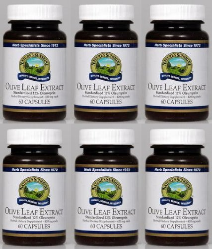 Naturessunshine Olive Leaf Extract Concentrate Supports Blood Sugar Levels 60 Capsules (Pack of 6)