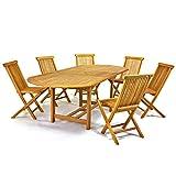 DIVERO-Gartenmbelset-Sitzgruppe-Teakholz-Tisch-170230