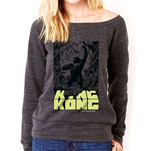 Felpa Fashion KING KONG - FILM by Mush Dress Your Style - Donna-XL-Charcoal Triblend