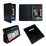 Elsse Value Folio Case for Kindle Fire 7 inch Scribbling Cover - Black (Not Compatible with Kindle Verve HD)