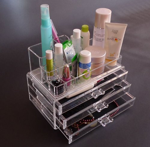 A-Express® Clear Makeup Acrylic Box Organiser Cosmetic Display Storage Case Reviews