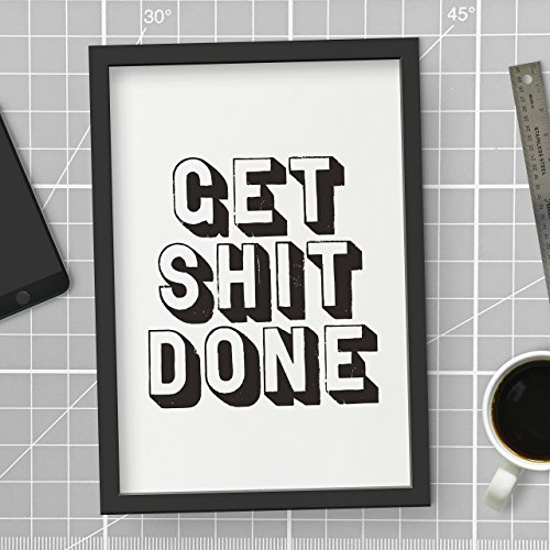 Get Shit Done Typography Poster Wall Decor Motivational Print Inspirational Poster Home Decor