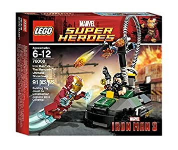 LEGO Super Heroes - Marvel - 76008 - Jeu de Construction - L'ultime Combat - Iron Man Contre le Mandarin