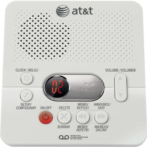 AT&T 1740 Digital Answering System with Time/Day Stamp Landline Telephone Accessory