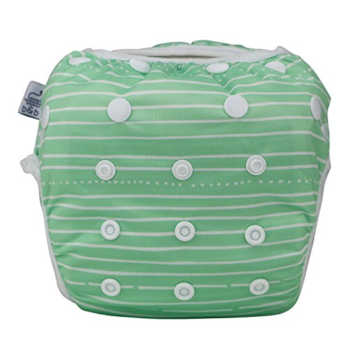 Nageuret-Premium-Reusable-Baby-Swim-Diapers-By-Beau-Belle-Littles-Washable-Adjustable-Fits-Babies-0-36-Months-8-36-Lbs-CPSIA-Certified-Great-for-Swimming-Lessons-Baby-Shower-Gift-Stripes