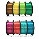 Silk PLA 3D Printing Filament 1.75mm 500g Red Copper