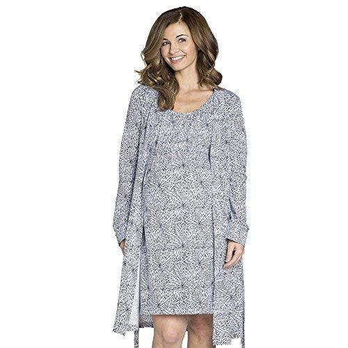 Baby Be Mine Maternity/Nursing Sleeveless Nightgown & Robe Set (Large pre pregnancy 12-14, Harper)