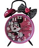 Disney Twin Bell Alarm Clock- Featuring Minnie Mouse