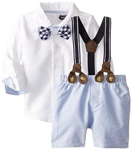 Mud Pie Baby Boys' Suspender Short Set, Chambray, 12 18 Months (Mud Pie Easter 18 Months compare prices)