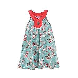 Aummade Girls Dress (Aummade018_Blue_6-7 years)