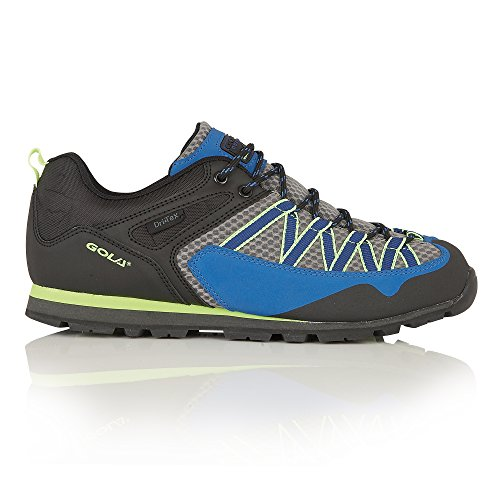 Gola Mens Swiss Lace Up Shock Absorption Trekking Shoes (9 US) (Gray/Blue/Black/Lime)