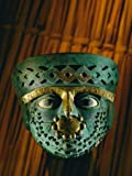 Gold-And-Copper Burial Mask of the Moche Culture Found in the Tombs at Dos Cabezas Photographic Poster Print by Kenneth Garrett, 30x40