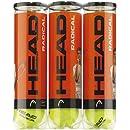 Head Radical, Palle da Tennis, Tripla confezione (12 palle)