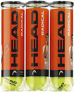 Head Radical Balles de tennis Lot de 3 (12 balles)