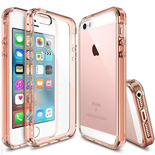 f24976ebf7 iPhone 5 Case, iPhone 5s Case Rose Gold, ENDLER [Clear Cushion] Protective  Clear Bumper For Apple iPhone SE 2016 & iPhone 5S 5 Seamless integrated ...