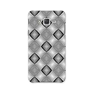 ArtzFolio Monochrome Diamond : Samsung Galaxy J2 Matte Polycarbonate ORIGINAL BRANDED Mobile Cell Phone Protective BACK CASE COVER Protector : BEST DESIGNER Hard Shockproof Scratch-Proof Accessories