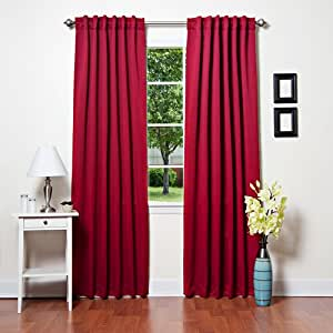 Red Blackout Curtains Amazon