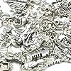 Imagine Perles - Lot de 3 breloques et accessoires en métal 12 à 30 mm multiformes