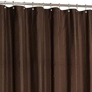 Maytex Chadwell Fabric Shower Curtain Chocolate Chocolate Brown Shower Curtain