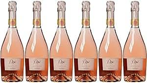 Bolla Vino Spumante Sparkling Rose Wine Vento NV 75 cl (Case of 6)