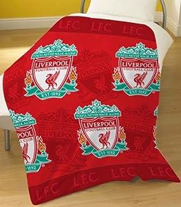 Liverpool Fc Multi Crest Fleece Blanket by Zap Ltd