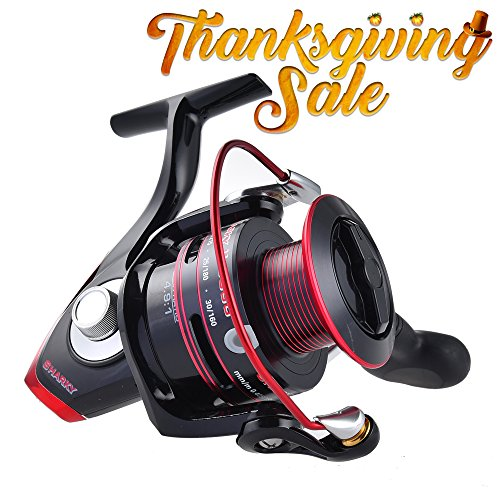Thanksgiving-SaleKastKing-Sharky-II-Spinning-Reel-Carbon-Fiber-415-LBs-Max-Drag-Brass-Gears-Stainless-Steel-Components-Great-Value