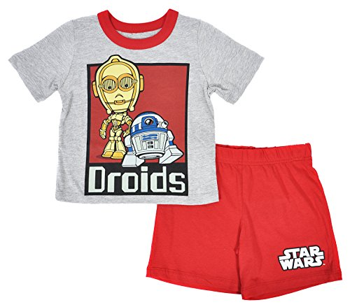 Star Wars Toddler's 2 Piece T-Shirt Shorts Set (Droids, 4T)