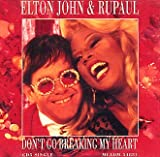 Disco de Elton John - Don't Go Breaking My Heart (Anverso)