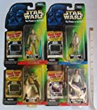 Star Wars - The power of the Force 4 Figures - Freeze Frame Action Slide - Han Solo in Carbonite, Bespin Luke Skywalker, Lando Calrissian and Princess Leia Organa in Hoth Gear - Made by Kenner
